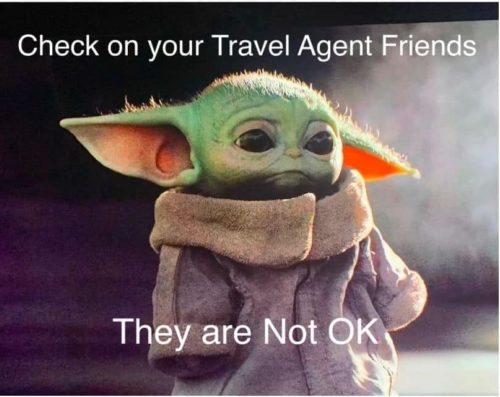 Yoda checking in on Travel Agents