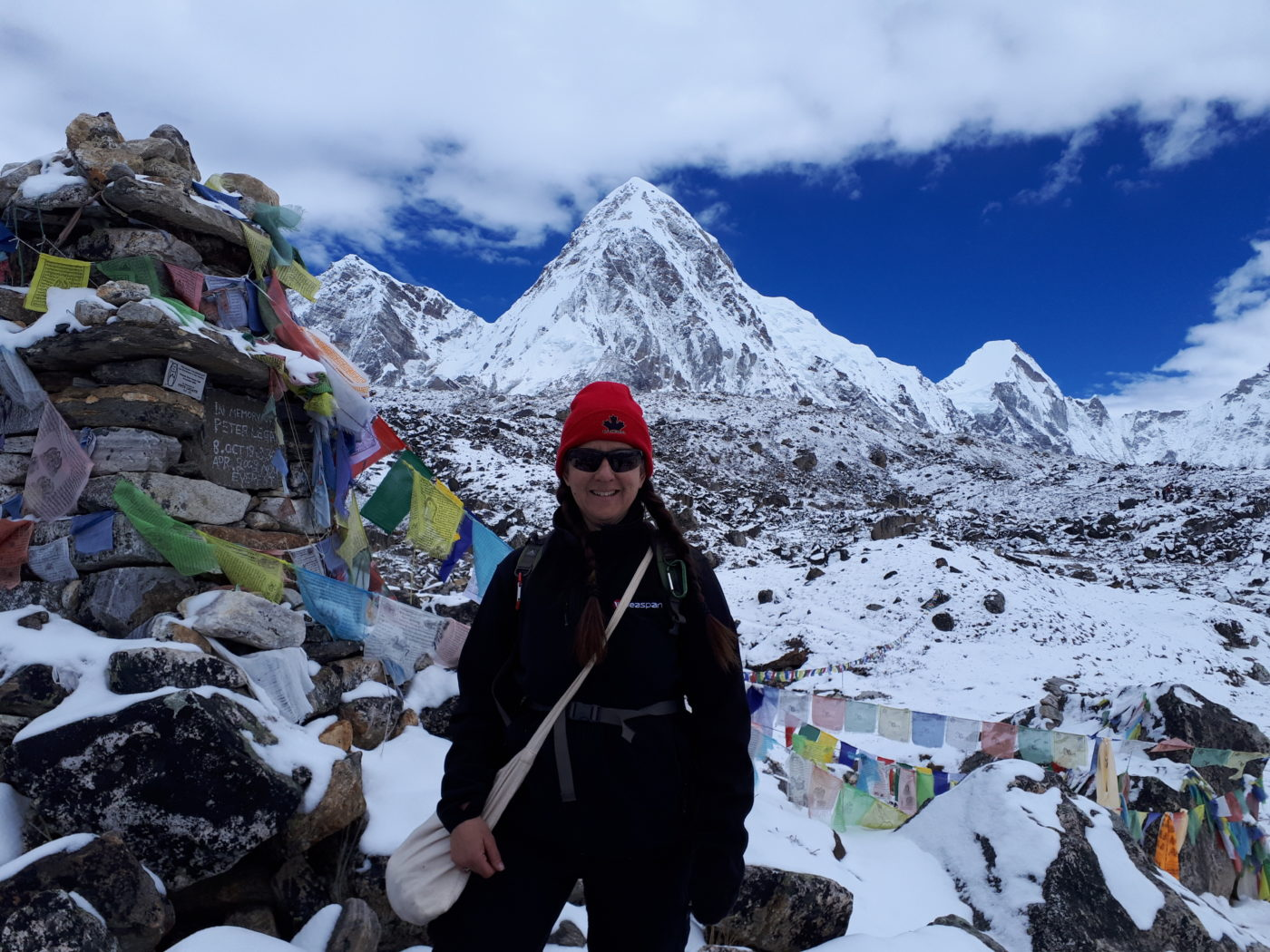 Yvette Crossley Hiking to Everest Base camp in Nepal