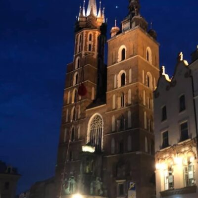 Cathedral in Main Market Square Krakow