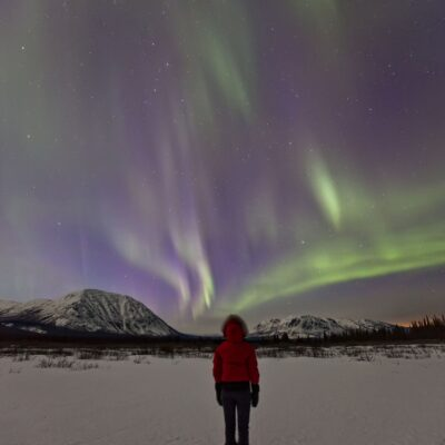 Canada Yukon Watching the northern lights Credit Robert Postma
