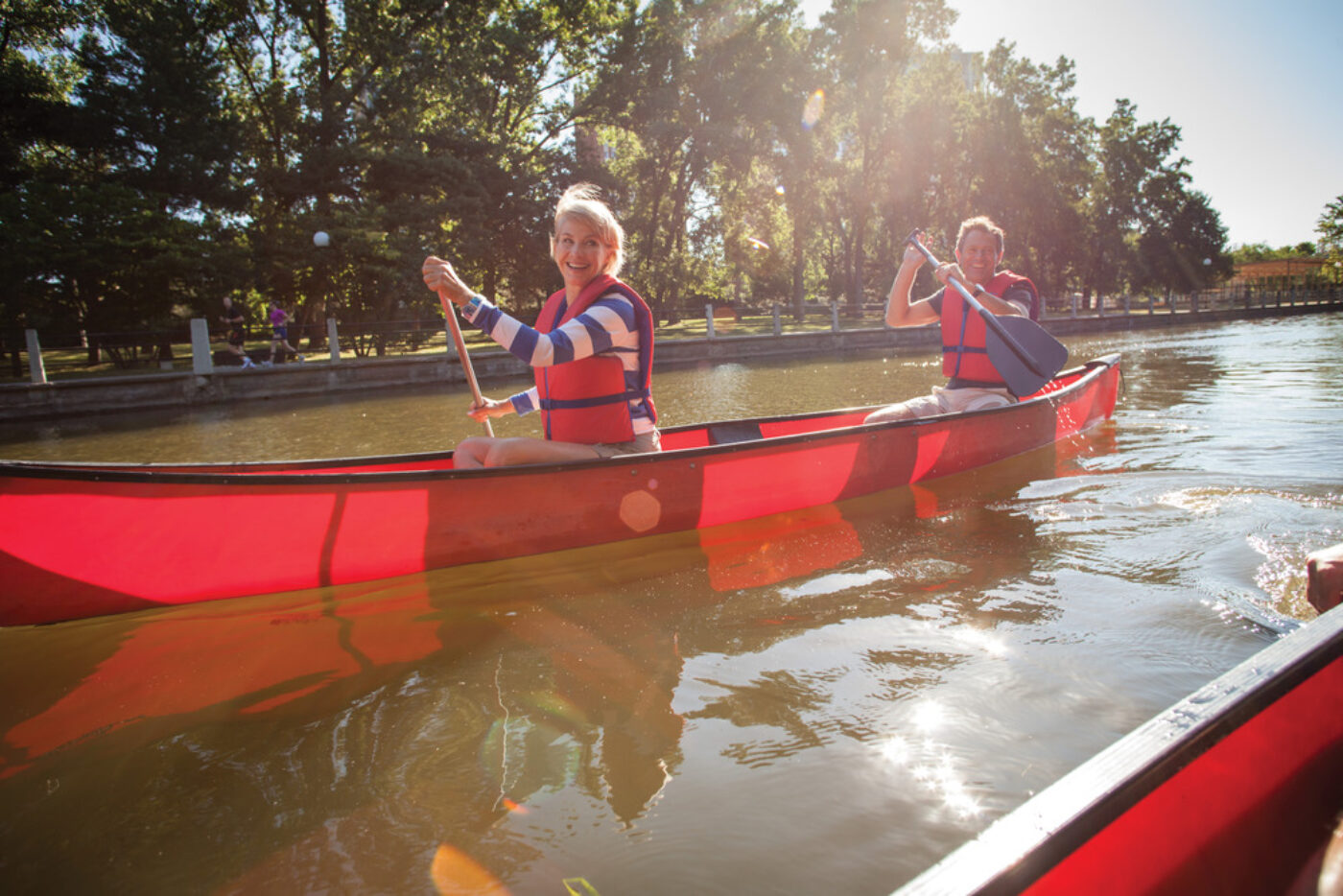 Canada Rideau Canal canoeing Credit Canadian Tourism Commission