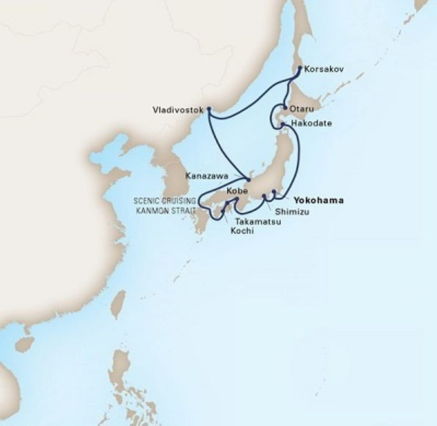 Holland America Itinerary Land Of The Rising Sun