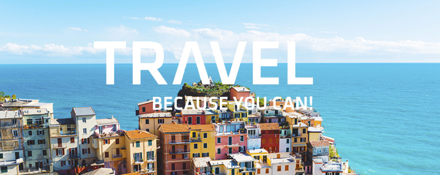 PTM Banner Travel Because you Can