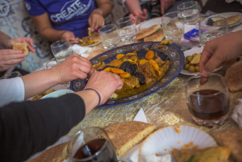 Morocco-eating-food-Credit-GAdventures